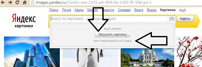 Загрузка картинки для проверки на яндекс